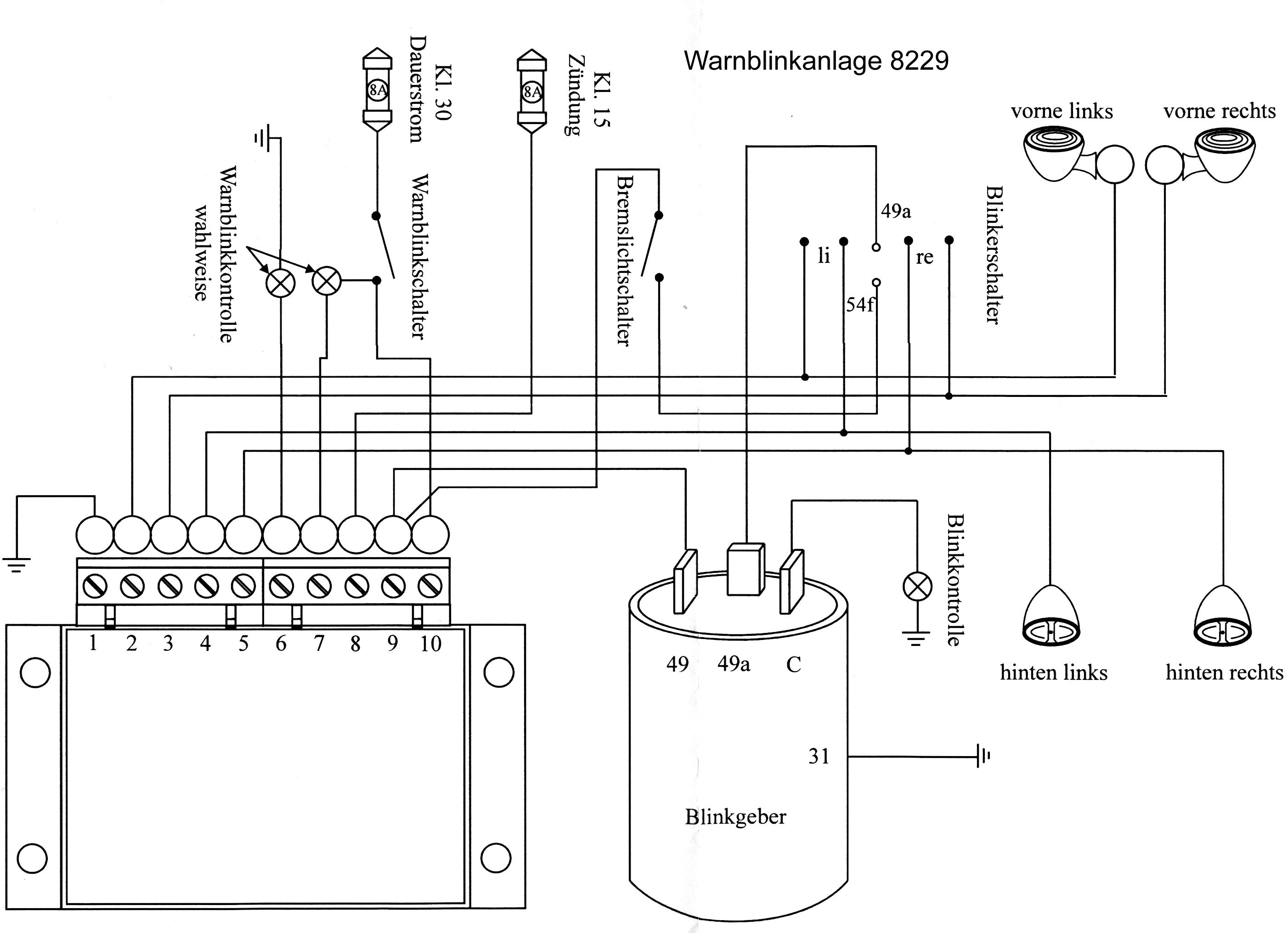 Schaltplan Blinker Multicar