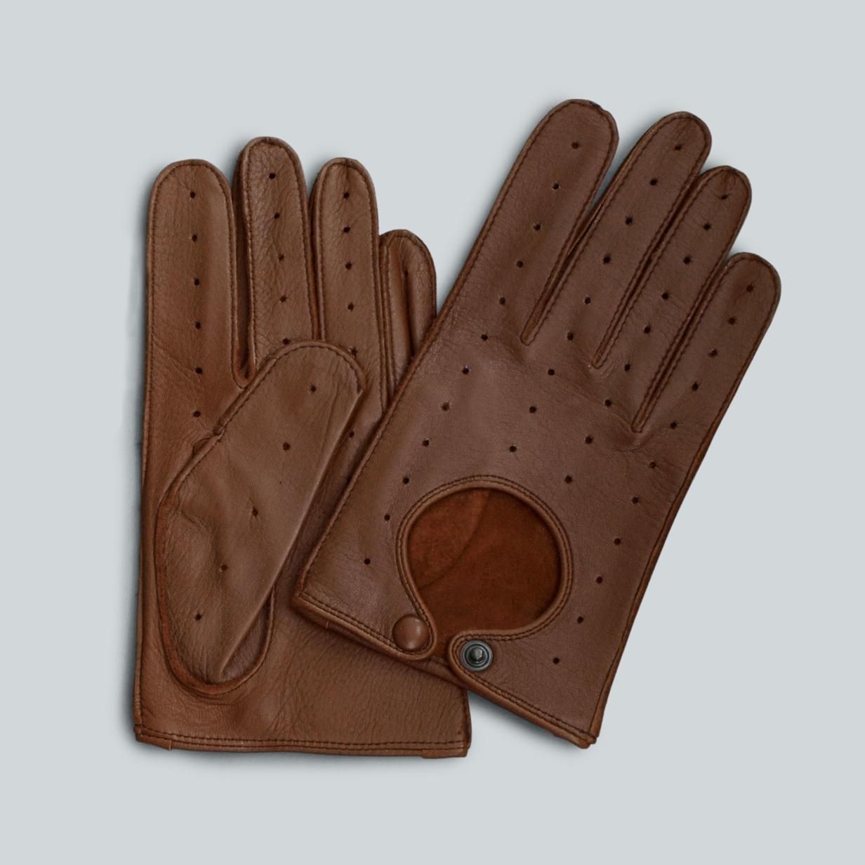 heinrici handschuhe aus elchleder farbe cognac. Black Bedroom Furniture Sets. Home Design Ideas