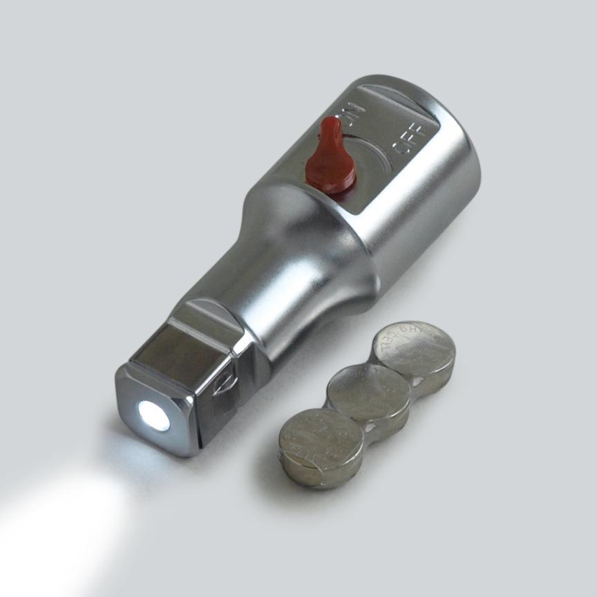 heinrici verl ngerung 12 5 mm 1 2 mit led licht. Black Bedroom Furniture Sets. Home Design Ideas